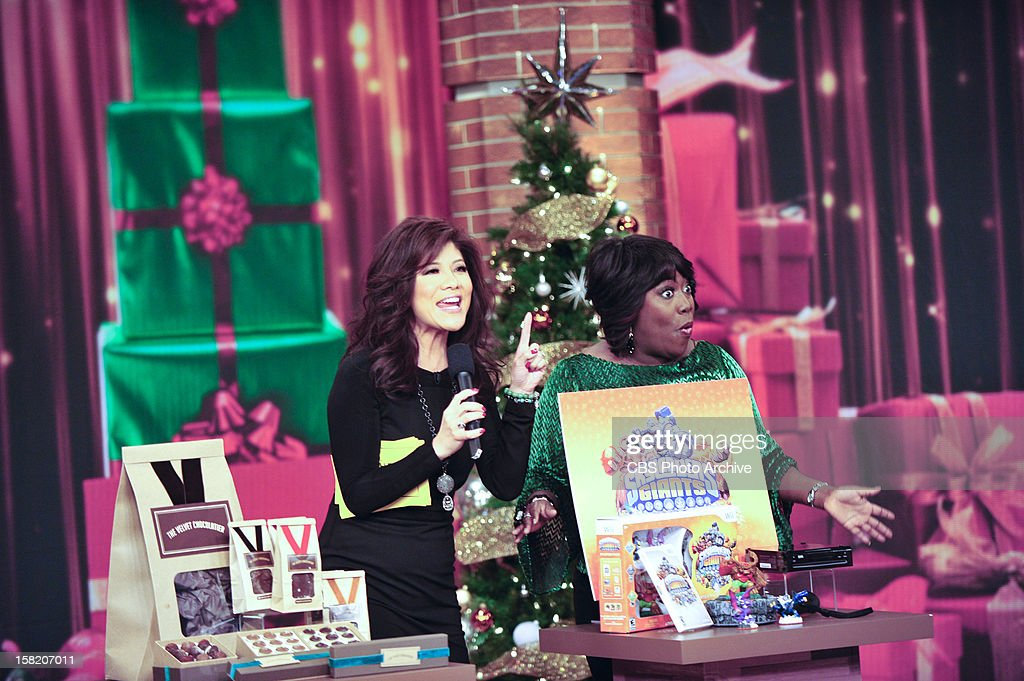 """Co-host Julie Chen presents her annual """"Top Chen List"""" of holiday gift items on THE TALK to kick of the special week of holiday shows broadcasting from New York City, Monday, December 10, 2012 on the CBS Television Network. Julie Chen, left, and Sheryl Underwood, shown."""