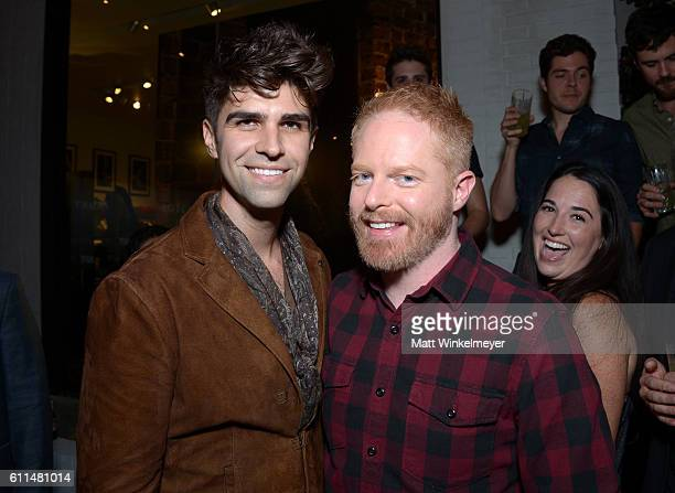Cohost Justin Mikita and actor Jesse Tyler Ferguson attend John Varvatos OUT Support the Gay Men's Chorus of LA on September 29 2016 in Los Angeles...