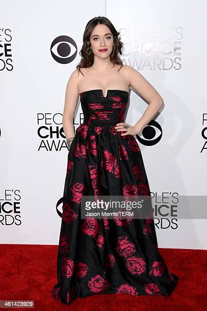 Cohost Kat Dennings attends The 40th Annual People's Choice Awards at Nokia Theatre LA Live on January 8 2014 in Los Angeles California