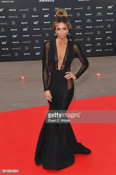 Cohost Kate Abdo attends the 2018 Laureus World Sports Awards at Salle des Etoiles Sporting MonteCarlo on February 27 2018 in Monaco Monaco