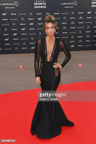 Cohost Kate Abdo attends the 2018 Laureus World Sports Awards at Salle des Etoiles Sporting MonteCarlo on February 27 2018 in Monaco Monaco