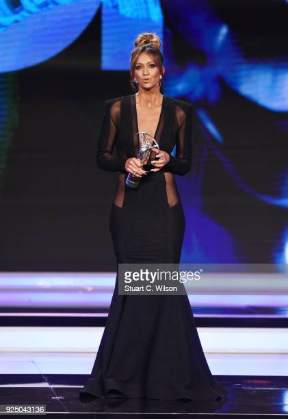 Cohost Kate Abdo speaks on stage during the 2018 Laureus World Sports Awards show at Salle des Etoiles Sporting MonteCarlo on February 27 2018 in...