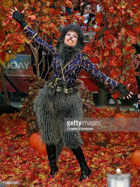 Cohost Kathie Lee Gifford celebrates Halloween on NBC's Today at Rockefeller Plaza on October 31 2008 in New York City