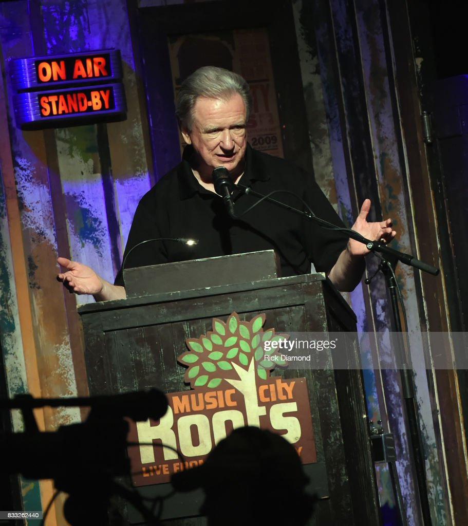 Co-Host Keith Bilbrey during Music City Roots at The Factory At Franklin on August 16, 2017 in Franklin, Tennessee.