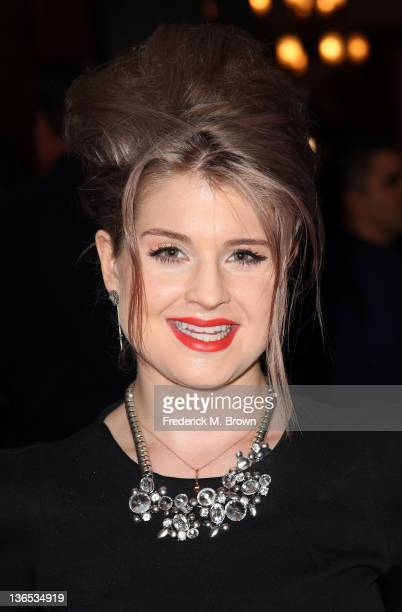 Cohost Kelly Osbourne poses during the E Entertainment Television lunch panel during the NBCUniversal portion of the 2012 Winter TCA Tour at The...