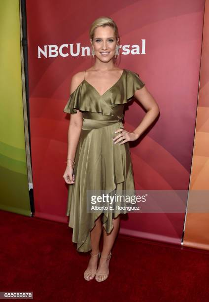 Cohost Kristine Leahy of 'American Ninja Warrior' attends the 2017 NBCUniversal Summer Press Day at The Beverly Hilton Hotel on March 20 2017 in...