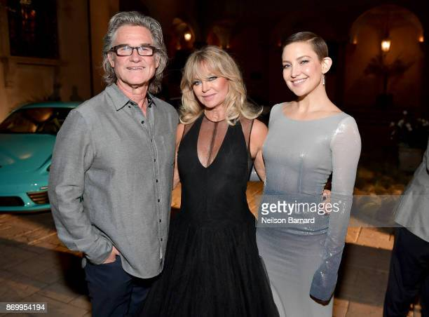 Co-host Kurt Russell, founder of The Hawn Foundation and Co-Host Goldie Hawn, and Kate Hudson attend Goldie's Love In For Kids at Ron Burkle's Green...