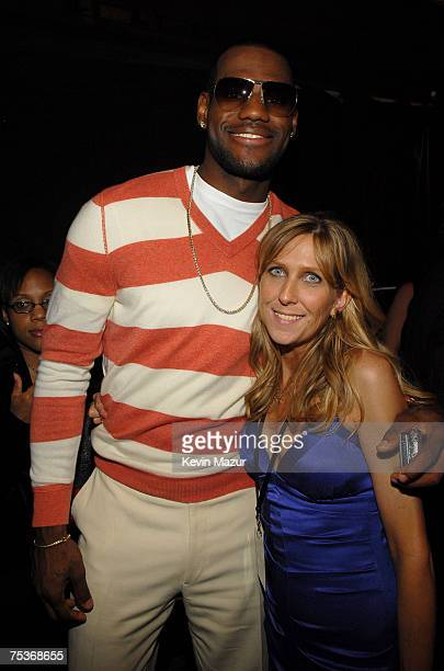 HOLLYWOOD JULY 11 Cohost LeBron James and ESPY Producer Maura Mandt backstage at the 2007 ESPY Awards at the Kodak Theatre on July 11 2007 in...