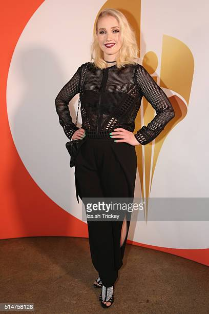 Cohost Liz Trinnear attend the Canadian Screen Week Presents #AcademySocial on March 10 2016 in Toronto Canada