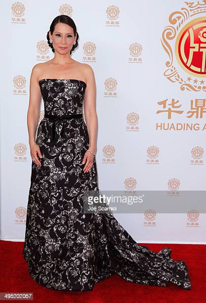 Co-host Lucy Liu poses in the press room during the Huading Film Awards on June 1, 2014 at Ricardo Montalban Theatre in Los Angeles, California....