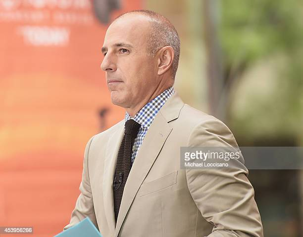 Cohost Matt Lauer appears on NBC's Today at the NBC's TODAY Show on August 22 2014 in New York City
