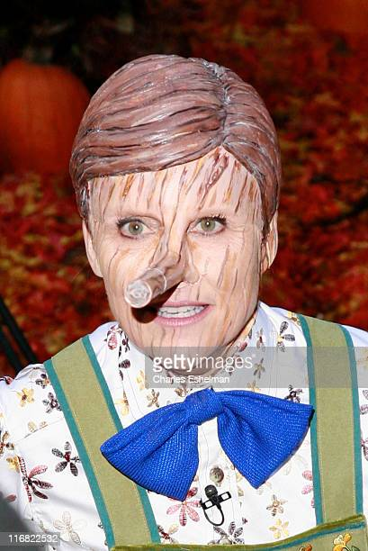 Cohost Meredith Vieira celebrates Halloween on NBC's Today at Rockefeller Plaza on October 31 2008 in New York City
