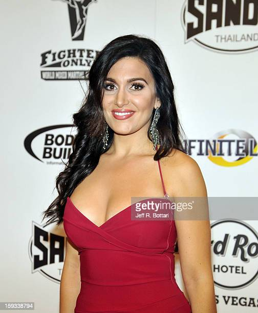 Cohost Molly Qerim arrives at the Fighters Only World Mixed Martial Arts Awards at the Hard Rock Hotel Casino on January 11 2013 in Las Vegas Nevada