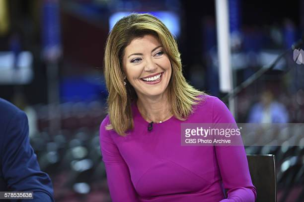 CoHost Norah O'Donnell broadcasts live from the floor of the 2016 Republican National Convention in Cleveland Ohio on Wednesday July 20 2016
