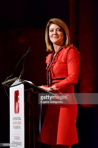 Cohost Norah O'Donnell speaks onstage during the International Women's Media Foundation's 2018 Courage in Journalism Awards at Cipriani 42nd Street...