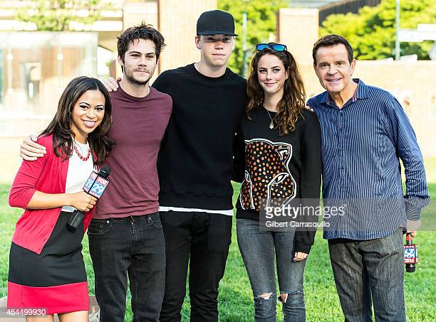 FOX 29 Cohost of 'Good Day' Philadelphia Alex Holley actors Will Poulter Dylan O'Brien Kaya Scodelario and Cohost of 'Good Day' Philadelphia Mike...