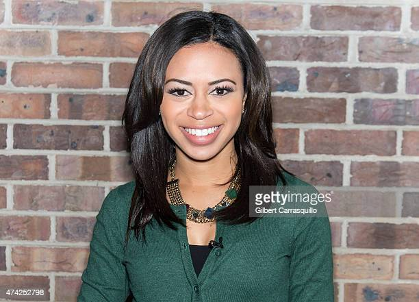 Cohost of Good Day Philadelphia Alex Holley is seen during a taping of Fox 29's 'Good Day' at FOX 29 Studio on May 21 2015 in Philadelphia...