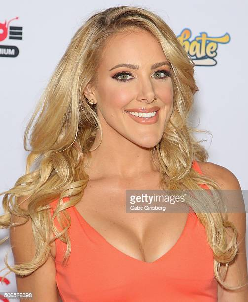 Cohost of the 2016 Adult Video News Awards comedian/actress Kate Quigley arrives at the Hard Rock Hotel Casinoon January 23 2016 in Las Vegas Nevada