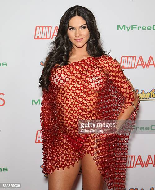 Cohost of the 2017 Adult Video Awards adult film actress Aspen Rae attends the 2017 Adult Video News Awards at the Hard Rock Hotel Casino on January...
