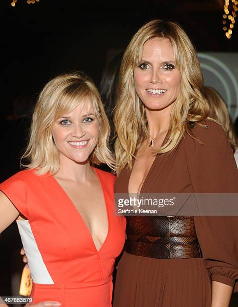 CoHost Reese Witherspoon and model Heidi Klum attend Hollywood Stands Up To Cancer Event with contributors American Cancer Society and Bristol Myers...