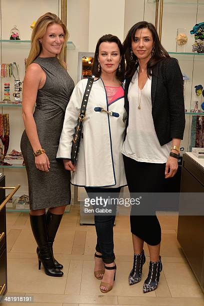Cohost Sarah Arison with actresses Debi Mazar and Drena De Niro attend YoungArts New York 2014 Kick Off Event at Henri Bendel 5th Avenue on April 1...