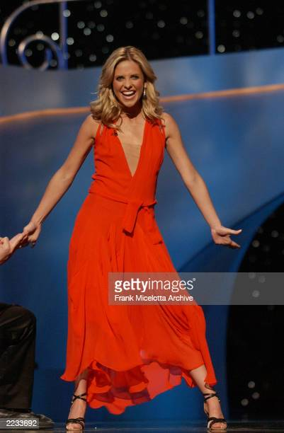 Cohost Sarah Michelle Gellar on the 2002 MTV Movie Awards at the Shrine Auditorium in Los Angeles Ca 6/1/02 Photo by Frank Micelotta/ImageDirect