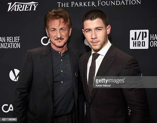 Cohost Sean Penn and recording artist Nick Jonas attend the 6th Annual Sean Penn Friends HAITI RISING Gala Benefiting J/P Haitian Relief...