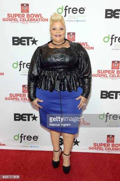 Cohost Tamela Mann attends the BET Presents Super Bowl Gospel Celebration at Lakewood Church on February 3 2017 in Houston Texas
