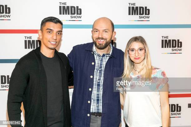 Cohost Tim Kash Paul Scheer and Cohost Kerri Dougherty at The IMDb Show on December 6th The show airs December 8 2017 December 6 2017 in Studio City...