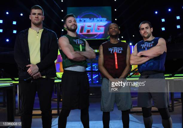 Co-host TJ Watt with contestants in the Only The Toughest Endure episode of ULTIMATE TAG airing Wednesday, July 15 on FOX.