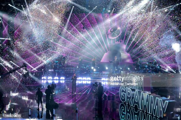 Co-host Víctor Manuelle performs onstage during The 21st Annual Latin GRAMMY Awards at American Airlines Arena on November 19, 2020 in Miami, Florida.