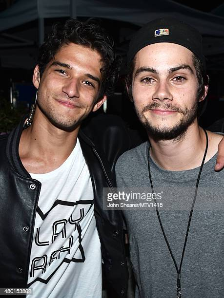 Co-host/actor Tyler Posey and actor Dylan O'Brien attend the MTV Fandom Awards San Diego at PETCO Park on July 9, 2015 in San Diego, California.