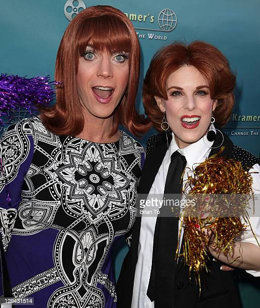 """Co-host/entertainer Coco Peru and Kat Kramer attend Kat Kramer's Films that Change the World premiere of anti-bullying documentary """"Teach Your..."""