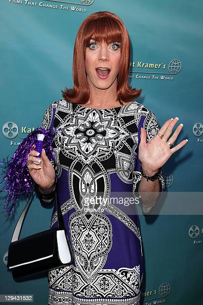"""Co-host/entertainer Coco Peru attends Kat Kramer's Films that Change the World premiere of anti-bullying documentary """"Teach Your Children Well"""" at..."""