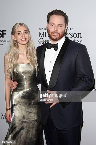 Cohosts Alexandra Parker and Sean Parker attend the launch of the Parker Institute for Cancer Immunotherapy an unprecedented collaboration between...