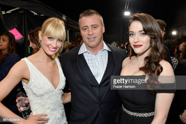 Cohosts Beth Behrs and Kat Dennings and actor Matt LeBlanc attend The 40th Annual People's Choice Awards at Nokia Theatre LA Live on January 8 2014...
