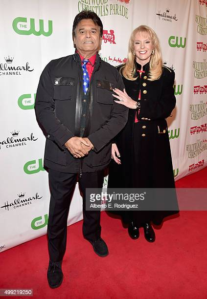 Cohosts Erik Estrada and Laura McKenzie attend 2015 Hollywood Christmas Parade on November 29 2015 in Hollywood California