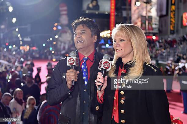 Cohosts Erik Estrada and Laura McKenzie attend the 2015 Hollywood Christmas Parade on November 29 2015 in Hollywood California
