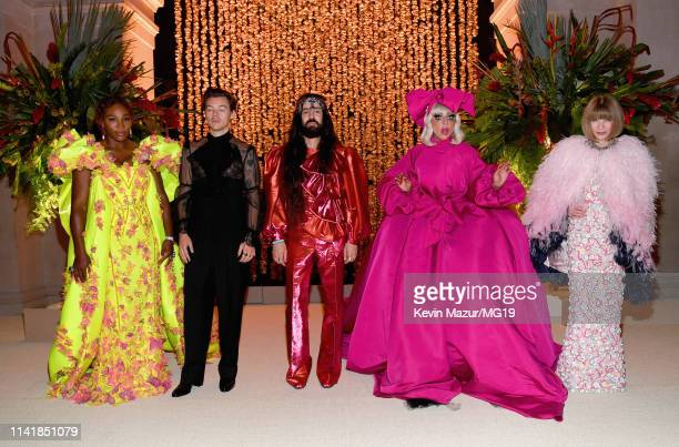 Co-hosts Harry Styles, Serena Williams, Alessandro Michele, Lady Gaga and Anna Wintour attend The 2019 Met Gala Celebrating Camp: Notes on Fashion at...