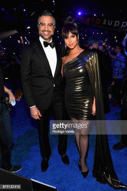 Cohosts Jaime Camil and Roselyn Sanchez attend The 18th Annual Latin Grammy Awards at MGM Grand Garden Arena on November 16 2017 in Las Vegas Nevada
