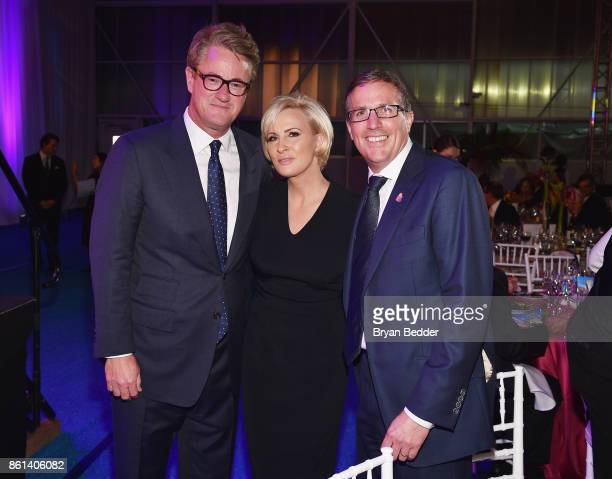 Cohosts Joe Scarborough Mika Brzezinski and Americares CEO Michael J Nyenhuis attend the 2017 Americares Airlift Benefit at Westchester County...