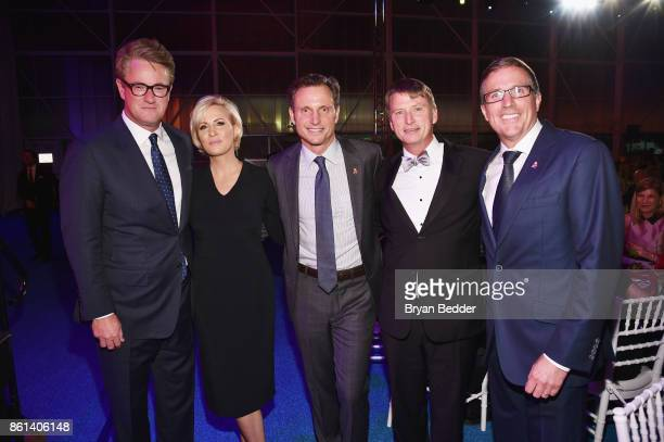 Cohosts Joe Scarborough Mika Brzezinski Tony Goldwyn Jonathan Bush Jr and Americares CEO Michael J Nyenhuis attend the 2017 Americares Airlift...