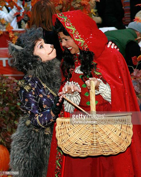 Cohosts Kathie Lee Gifford and Hoda Kotb celebrate Holloween on NBC's Today at Rockefeller Plaza on October 31 2008 in New York City