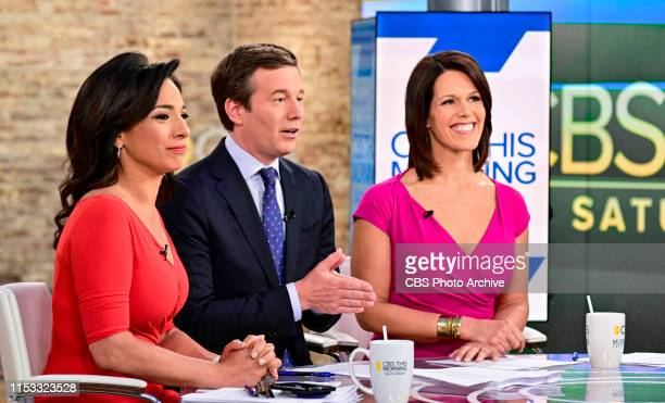 CoHosts Michele Miller Jeff Glor and Dana Jacobson host their first show together on June 22 2019