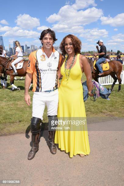 CoHosts Nacho Figueras and Gayle King attend The Tenth Annual Veuve Clicquot Polo Classic at Liberty State Park on June 3 2017 in Jersey City New...