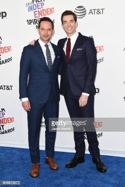 Cohosts Nick Kroll and John Mulaney attend the 2018 Film Independent Spirit Awards on March 3 2018 in Santa Monica California