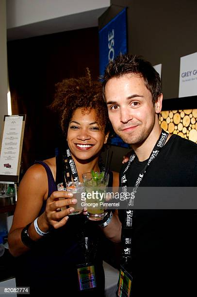 CoHosts of E Arisa Cox and Jason Ruta visit The Artist Sanctuary presented by Sirius Satellite Radio Produced by Know Affiliation Day 2 at the Adara...