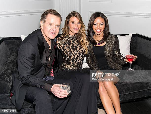Cohosts of 'Good Day' Philadelphia Mike Jerrick Alex Holley and Model Samantha Hoopes attend Philadelphia Style's 2014 Holiday Issue Celebration at...