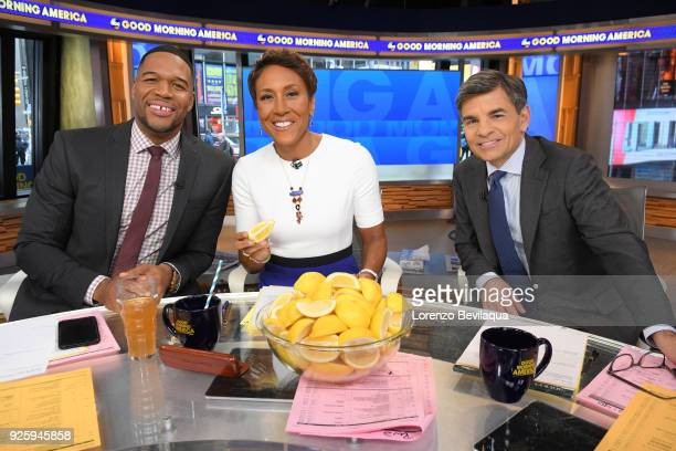 """Co-hosts participate in the Lemons for Leukemia Challenge today, Thursday, March 1, 2018 on Walt Disney Television via Getty Images's """"Good Morning..."""