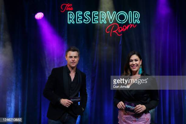 Cohosts Roger Corser and Catherine Alcorn pose post show on June 05 2020 in Sydney Australia The Reservoir Room is livestream performances of theatre...
